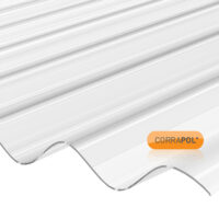 Corrapol Clear Polycarb Corrugated Sheet