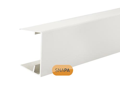 Snapa 35mm PVC Drip Trim White 2.1m