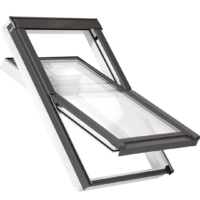 RoofLITE+ Centre Pivot Roof Window White Painted Finish - SOLID WHITE Collection