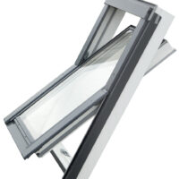RoofLITE+ SOLID PVC Roof Window Bundle - Roof Window & Tile Flashing
