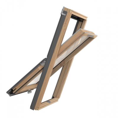 RoofLITE+ SLIM VENT Ultimate Roof Window Bundle with Slate Flashing