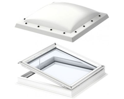 velux electric flat roof dome opaque
